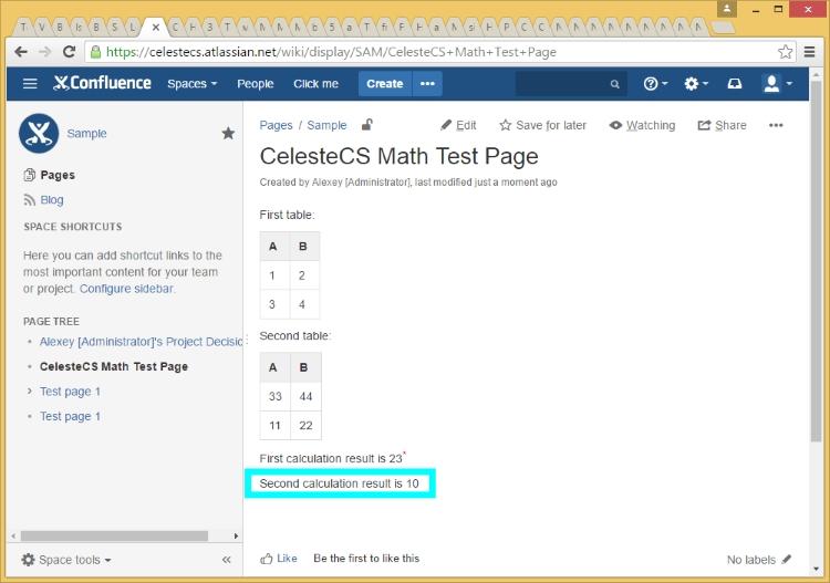 CelesteCS Math Plugin: Working with Tables - CelesteCS